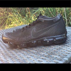 Used Nike Air VaporMax Flyknit 3 BLACK men's 10